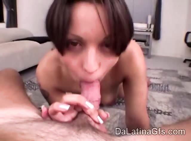 Sexy Gemma loves to suck her boyfriends big cock