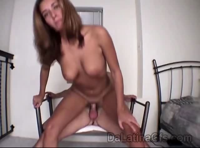 Little Latina with big tits pumped by hard meatbone